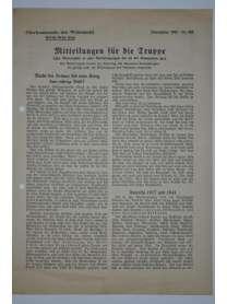 Mitteilungen für die Truppe - Oberkommando der Wehrmacht - Nr. 163 - Dezember 1941