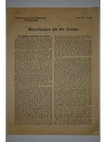 Mitteilungen für die Truppe - Oberkommando der Wehrmacht - Nr. 258 - April 1943