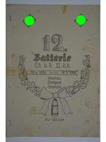 Bierzeitung - Erinnerungsschrift - 12. Batterie ÜB. A.R. XI. A.K. - Gronau - Bergen - 1939