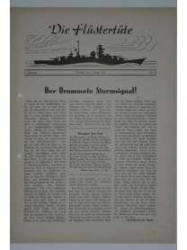 """Die Flüstertüte - Nr. 56 - 5. August 1942 - Bordzeitung Kreuzer """"Admiral Hipper"""""""