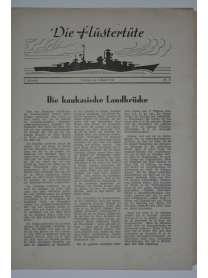 """Die Flüstertüte - Nr. 57 - 9. August 1942 - Bordzeitung Kreuzer """"Admiral Hipper"""""""