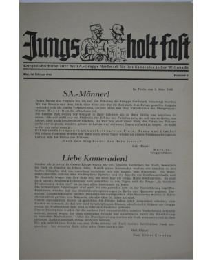 Jungs holt fast Kriegsnachrichtenblätter der SA-Gruppe Nordmark Nr. 8 Februar 1943-21