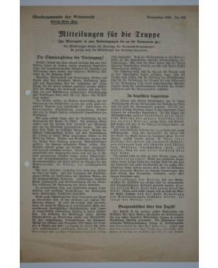 Mitteilungen für die Truppe Oberkommando der Wehrmacht Nr. 164 Dezember 1941-20