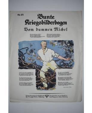 Bunte Kriegsbilderbogen Vom dummen Michel Nr. 28 1915-20