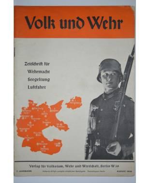Volk und Wehr Zeitschrift für Wehrmacht, Seegeltung und Luftfahrt August 1938-20