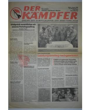 Der Kämpfer Organ der Kampfgruppen der Arbeiterklasse Nr. 8 August 1988-20