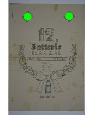 Bierzeitung Erinnerungsschrift 12. Batterie ÜB. A.R. XI. A.K. Gronau Bergen 1939-20