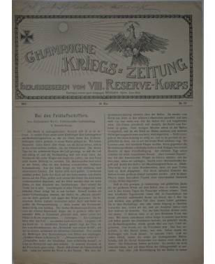 Champagne-Kriegszeitung VIII. Reserve-Korps Nr. 117 14. Mai 1916-20