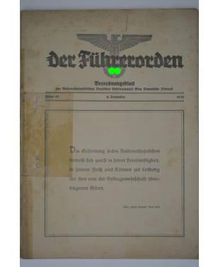 Der Führerorden Folge 37 6. Dezember 1935 Verordnungsblatt NSDAP Gau Bayerische Ostmark-20