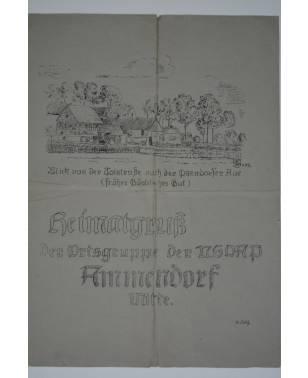 Heimatgruß Der Ortsgruppe der NSDAP Ammendorf Mitte Mai 1943 Halle a.d. Saale-20