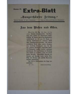 """Extra-Blatt der """"Sangerhäuser Zeitung"""" Nr. 29 25. Dezember 1914-20"""