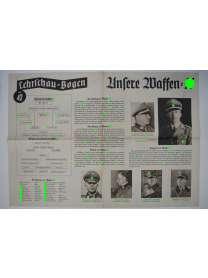 Lehrschau-Bogen - Nr. 42/42a - Waffen-SS