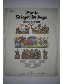 Bunte Kriegsbilderbogen - Unsere Feldpost - Nr. 47 - 1915
