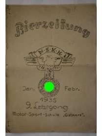 """Bierzeitung - Erinnerungsschrift - NSKK - Motor-Sport-Schule """"Ostmark"""" - 1935"""