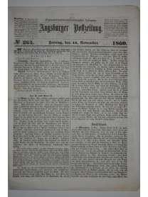 Augsburger Postzeitung - Nr. 264 - 16. November 1860