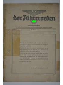 Der Führerorden - Folge 36 - 29. November 1935 - Verordnungsblatt - NSDAP Gau Bayerische Ostmark