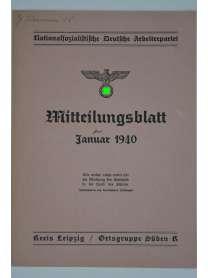 Mitteilungsblatt - Januar 1940 - Kreis Leipzig / Ortsgruppe Süden K - NSDAP