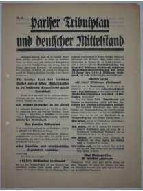 Flugblatt Volksentscheid - Young-Plan - DNVP - NSDAP - Stahlhelm - Nr. 10 - Oktober 1929