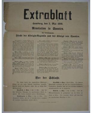 Extrablatt Hamburg 5. Mai 1898 Revolution in Spanien-21
