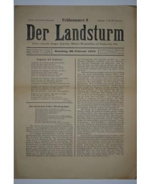 Der Landsturm Feldnummer 9 28. Februar 1915-20