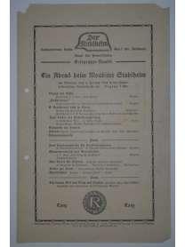 Flugblatt - Der Stahlhelm - Ein Abend beim Moabiter Stahlhelm - Berlin - 1929