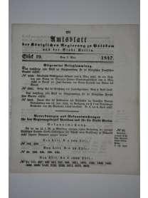 Amtsblatt der Königlichen Regierung zu Potzdam und der Stadt Berlin - Nr. 19 - 7. Mai 1847