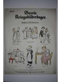 Bunte Kriegsbilderbogen - Unsere Mädchen - Nr. 51 - 1915