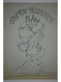 Bierzeitung - Erinnerungsschrift - Gruppen-Beobachter 8/41 - 1942 - Ulm Böblingen - Stuttgart