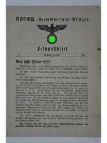 NSDAP Kreis Oberlahn-Usingen - Feldpostbrief - Nr. 5 - Mai 1940