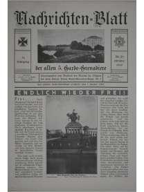 Nachrichten-Blatt der alten 5. Garde-Grenadiere - Oktober 1930 - Nr. 29 - 11. Jahrgang - Königlich Preußisches Garde Grenadier Regiment Nr. 5
