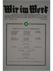 Wir im Werk - Werkzeitschrift - Nr. 54 - November 1943