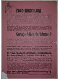 Wahlflugblatt - NSDAP - Reichstagswahl  - 5. März 1933 - Berlin - NS Betriebszellen-Organisation Kreis III