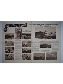 Lehrschau-Bogen - Nr. 77/77a - Vom Lehrling zum Obermaschinisten der Kriegsmarine