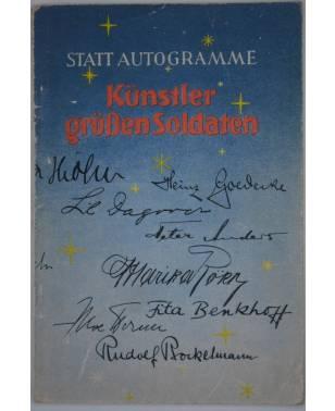 Statt Autogramme Künstler grüßen Soldaten 1944-20