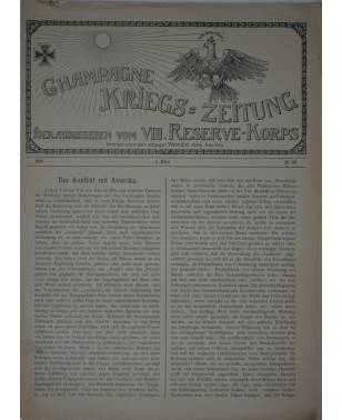 Champagne-Kriegszeitung VIII. Reserve-Korps Nr. 99 4. März 1916-20
