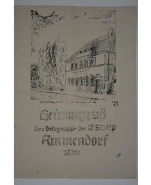 Heimatgruß Der Ortsgruppe der NSDAP Ammendorf Mitte August 1943 Halle a.d. Saale-20