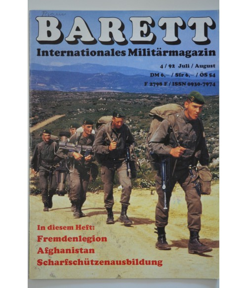 Barett Internationales Militärmagazin Heft 33 Juli / August 4 / 1992-31
