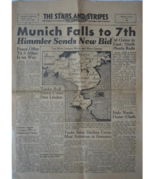 Amerikanische Armeezeitung The Stars and Stripes Nr. 27 1. Mai 1945-31