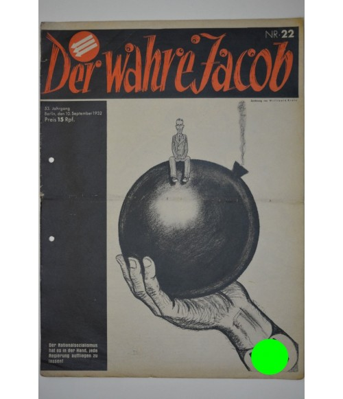 Der Wahre Jacob Nr. 22 10. September 1932-31