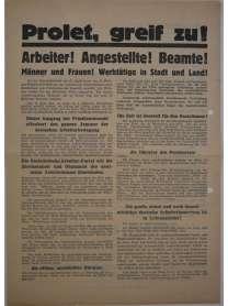 Wahlflugblatt - Sozialistische Arbeiterpartei Deutschlands - SAP - 31. Juli 1932 - Wahl zum 6. Reichstag - Max Seydewitz