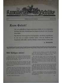 Der Kavallerie-Schütze - Nr. 1 - Januar 1940