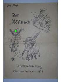 """Bierzeitung - Erinnerungsschrift - Der """"Röllbach"""" - Bayern - RAD - Abschiedszeitung - 1938"""