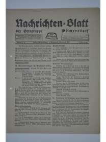 Nachrichten-Blatt der Ortsgruppe Wilmersdorf - Der Stahlhelm - Nr. 9 - 1. Oktober 1928