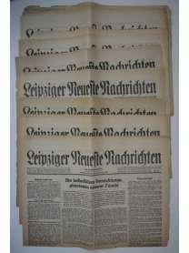 Konvolut - Leipziger Neueste Nachrichten - 12 Stück - 1945