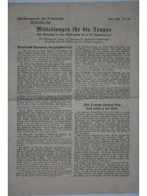 Mitteilungen für die Truppe - Oberkommando der Wehrmacht - Nr. 114 - Juni 1941