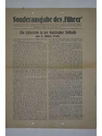 """Sonderausgabe des """"Führer"""" - 24. April 1928"""