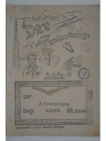 Bierzeitung - Erinnerungsschrift - Der Funkerkrieg - III. Funkerlehrgang - 12.10.1935 - Darmstadt