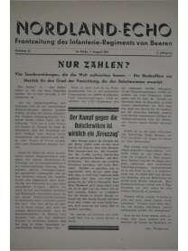 NORDLAND-ECHO - Frontzeitung des Infanterie-Regiments von Beeren - Nr. 32 - 9. August 1941