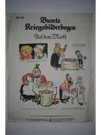 Bunte Kriegsbilderbogen - Auf dem Markt - Nr. 48 - 1915