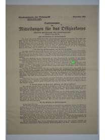 Mitteilungen für das Offizierkorps - Sondernummer - Oberkommando der Wehrmacht  - Dezember 1942
